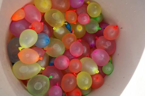 water balloon fight photo
