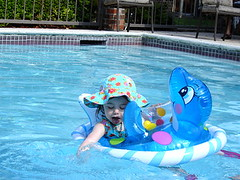 when can a baby get in a pool