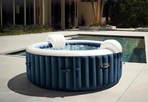 how to drain an intex hot tub