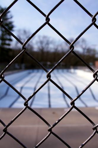 metal pool fence photo