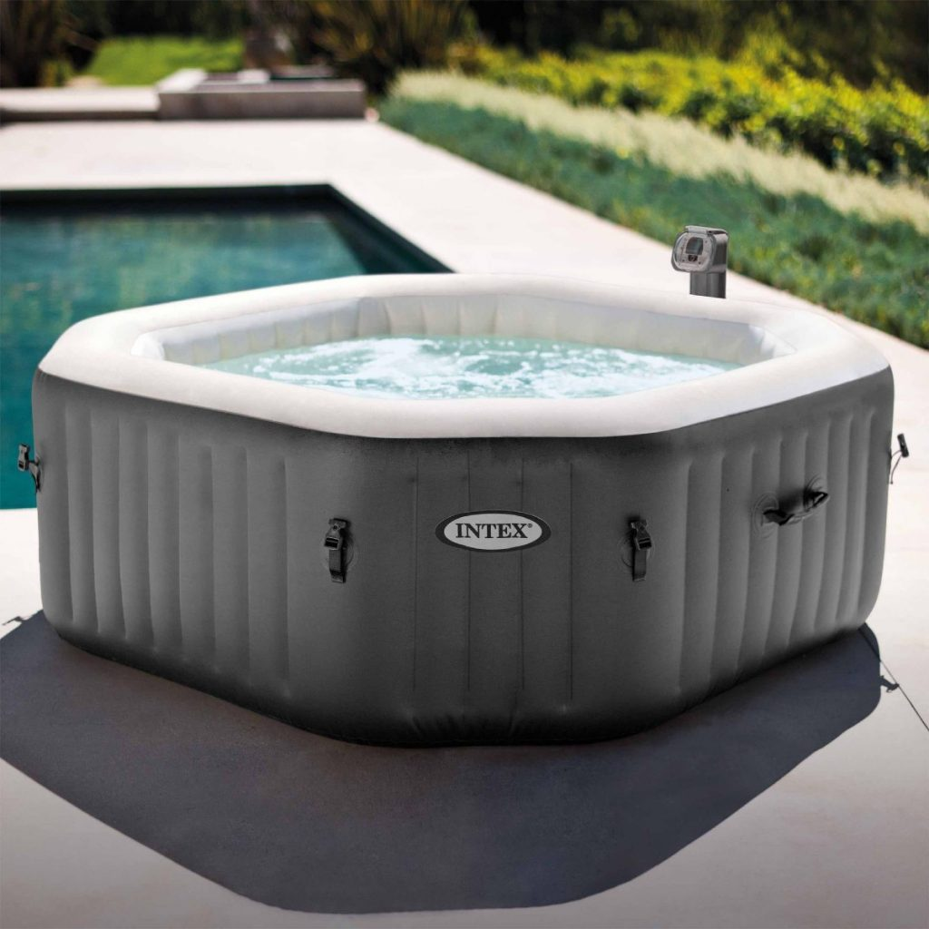 what to put under an inflatable hot tub