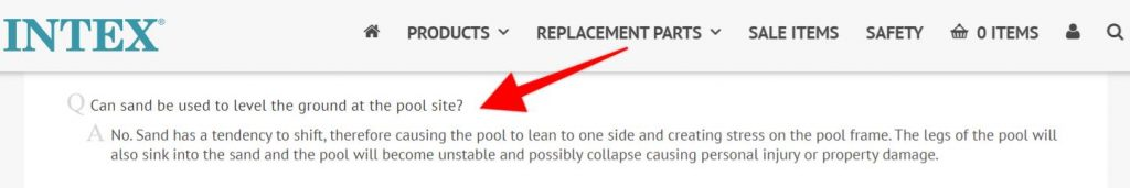 what to put under intex pools