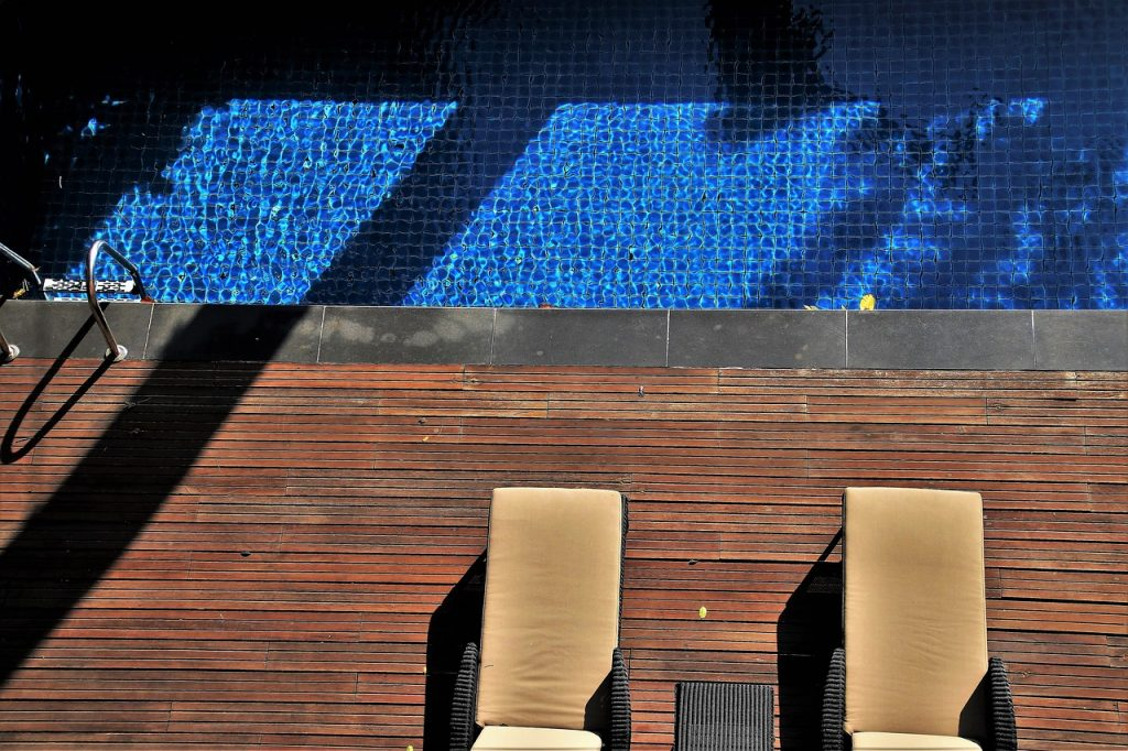 how to clean a pool deck
